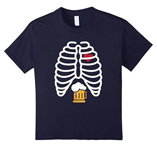 Winning Halloween Costumes For Women (Kids Skeleton - Beer - Beer Lover - Halloween Costume Shirt 12 Navy)