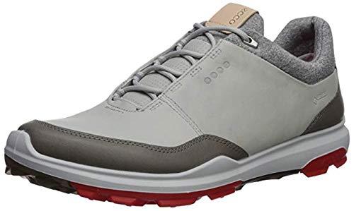 ECCO Men's Biom Hybrid 3 Gore-Tex Golf Shoe, Concrete/Scarlet, 45 M EU (11-11.5 US)