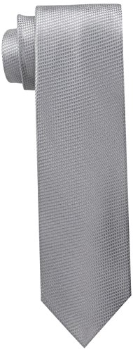 U.S. Polo Assn.. Men's Grendine Like Solid Tie, Grey, One Size