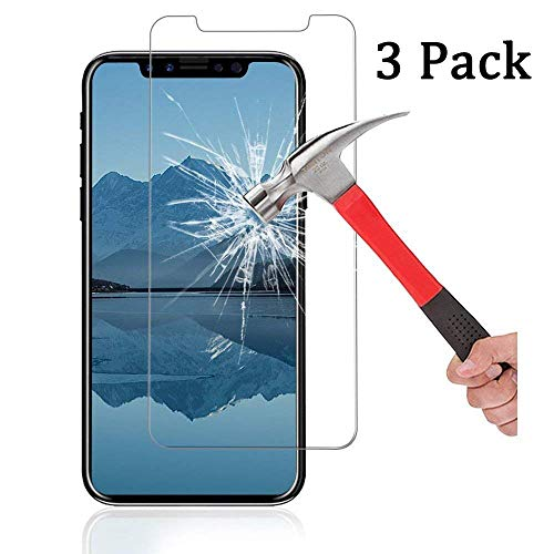 - [3-Pack] Ankoe for iPhone XR Screen Protector, 2.5D Edge 0.33mm Clear Film Anti-Scratch and Anti-Fingerprint Ultra Slim HD Clear Premium Tempered Glass for Apple iPhone XR