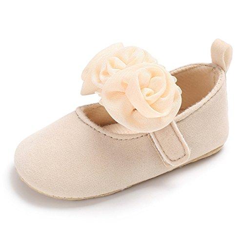 Baby Girls Princess Shoes Rose Flower Soft Sole Anti Slip Dress Shoes Mary Jane Flat