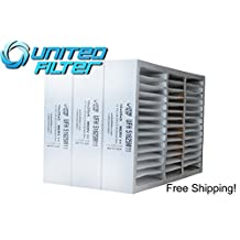 """16x25x5 HONEYWELL Replacement (Actual size 15-7/8"""" x 24-3/4"""" x 4-3/8"""") MERV 11 Pleated Furnace Air Filter, Case of 3"""