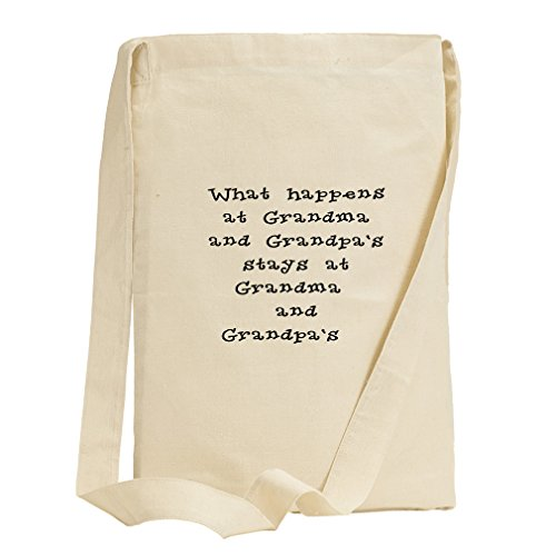 What Happens At Grandma And Grandpa'S Canvas Sling Tote Bag