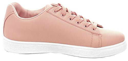 Cambridge Selezionare Donna Tondo Punta Classica Sneaker Moda Solido Solido Rosa
