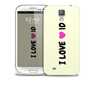 i love 1 directio 1d Samsung Galaxy S4 GS4 protective phone case hjbrhga1544