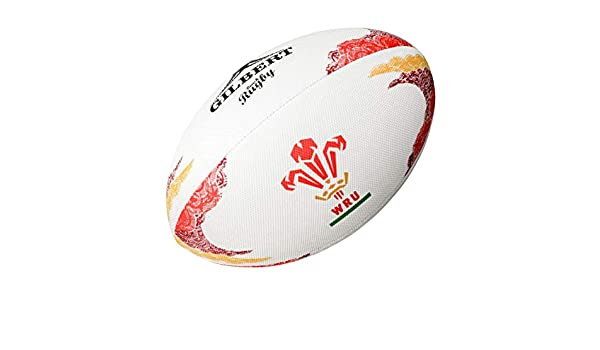 Gilbert Official WRU Playa Pelota Rugby 2016/17 - Blanco, 37 EU ...