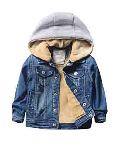 5ec53e4deb7fe  エージョン  ボーイズ 男の子 デニムジャケット ジージャン ショート丈 ジュニア トップス 厚手 裏起毛 子供