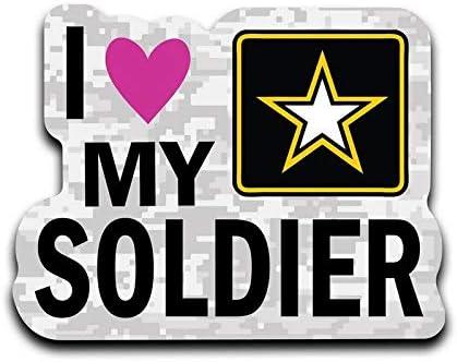 I LOVE MY SOLDIER Vinyl Decal Sticker