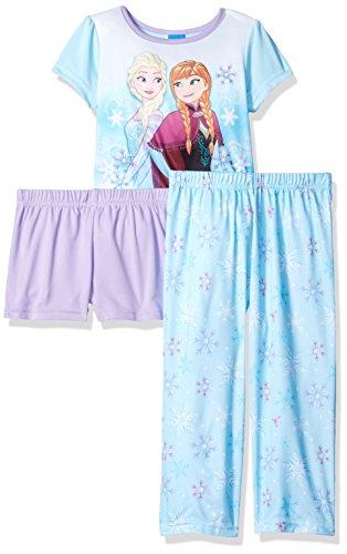 Disney Girls Frozen 3 Piece Pajama