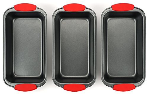Elite Bakeware 3 Piece NonStick Bread Pan Set - Loaf Pans For Bread - Baking Pans - Bakeware Set by Elite Bakeware (Image #4)