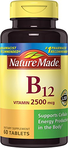 Nature Made Vitamin B12 2500 mcg. Tablets 60 Ct