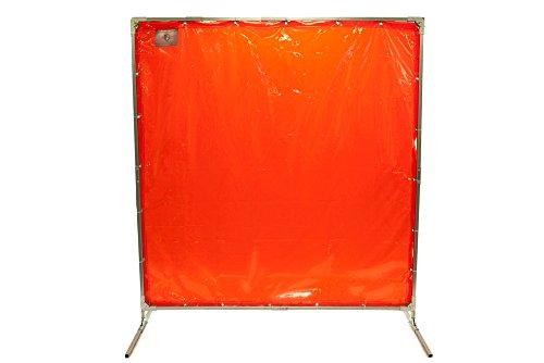 Steel Guard Safety Welding Screen w/ Frame - H- 6' x W- 8' - See-Thru Shade 8 Welding Curtain & Frame (Thru See Welding Curtains)
