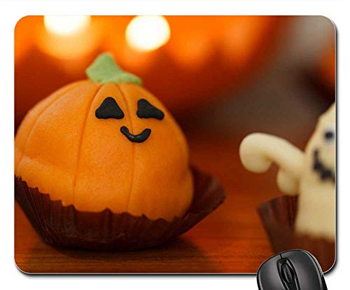 Mouse Pads - Sweet Food Halloween Dessert Holiday Orange -