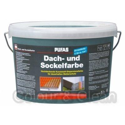 Pufas Dach- und Sockelfarbe 5 L Farbe: Basaltblau 961 Dachfarbe Sockel-Anstrich