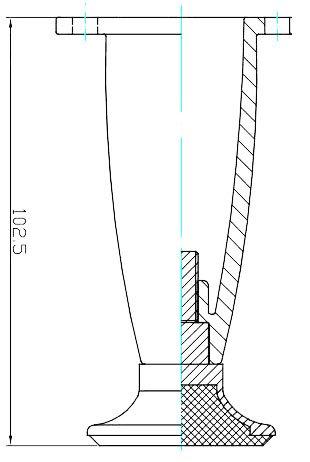 4'' tall Sleek Tapered Adjustable Leg, Brushed Nickel Finish, Set of Four Legs by TableLegsOnline (Image #3)