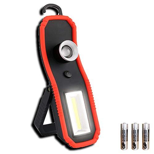 Stanley Tripod Light - LED Work Lights Camping Lantern Flashlight and COB Working Light with Magnetic Base Hanging Hook, LED Magnetic Flashlight for Car Repairing (Black3)