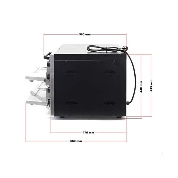 Forno per pizza professionale con doppia camera in acciaio inox, 3000W, 350°C Fornetto elettrico 5