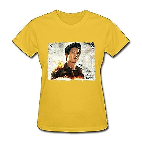 YZ Maze Runner The Scorch Trials Logo 2015 T Shirt For Women Yellow L (The Maze Runner T Shirt Girls)