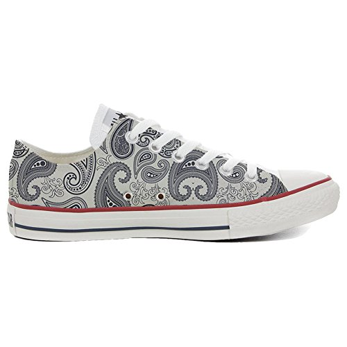 Converse All Star Slim Customized personalisierte Schuhe (Handwerk Schuhe) Light Paisley