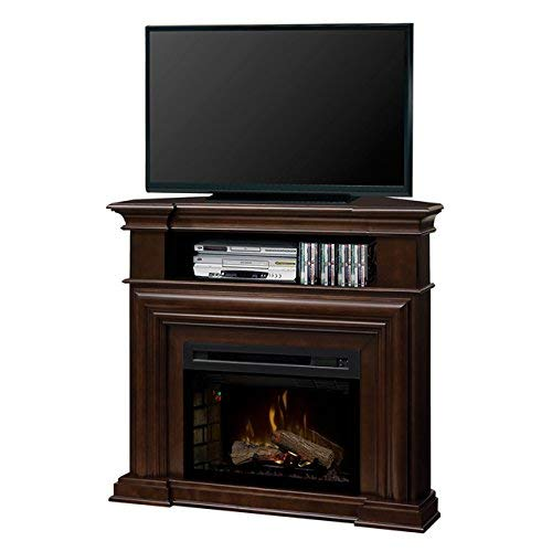 DIMPLEX Electric Fireplace, TV Stand, Media Console, Space Heater and Entertainment Center with Natural Log Set in Espresso Finish - Montgomery #GDS25HL-1057E Dimplex Corner Electric Fireplace