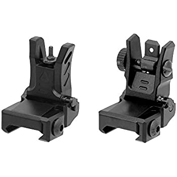 Amazon.com: UTG Dual Aiming flip-up de perfil bajo de ...
