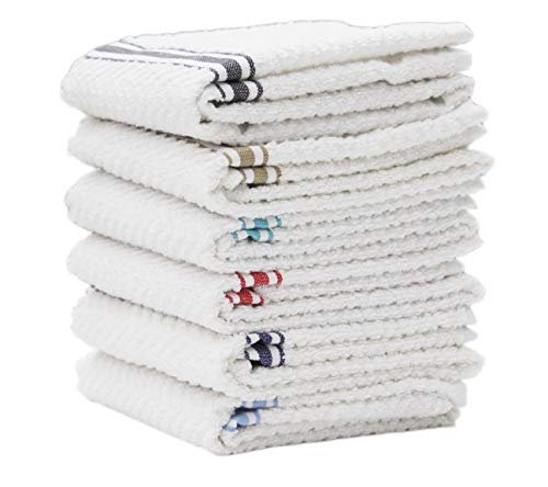 (Cotton Candy Terry Towel Set of 6( Black, Blue, Red, Beige, Grey, Navy) 16