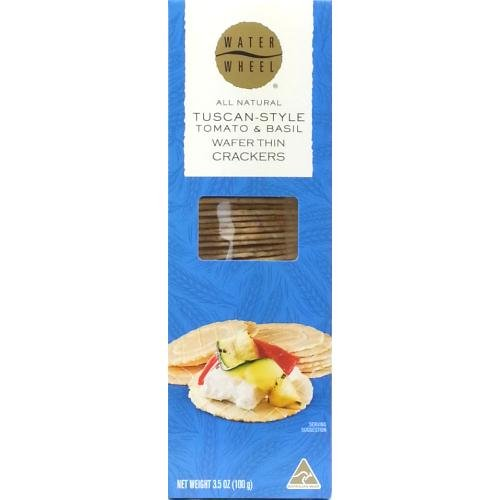 Tuscan Wafer Thin Crackers (6 pack) WATERWHEEL INDUSTRIES