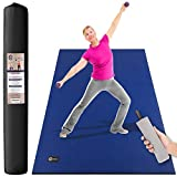 CAMBIVO GymCope Large Exercise Mat, 6′ x 4′ x 1/4″ Non-Slip and Shose Friendly Workout Mats for Home Gym – Plyo, MMA, Dance, Jump, Cardio Mat