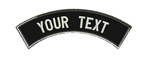 Embroidered Custom Tab - Custom Shoulder Tab with Hook Fastener/Personalized Tab By Lanstang (BLACK BORDER)