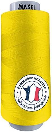 Made in France – Hilos de coser de poliéster – Bobina para máquina de coser y máquina de coser – Certificado ECOGRIFFE y OEKO-TEX® (amarillo)