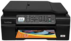 Brother Work Smart Series MFC-J450DW  Install a compact, easy-to-use MFC-J450DW in your home office.   Easy-to-use, color LCD Display makes navigating machine functionality a snap.   Use high-yield replacement ink cartridges to help r...