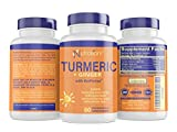 Turmeric and Ginger Capsules with BioPerine Black Pepper Extract - Gentle ON Stomach & Easy Digestion - 95% Curcuminoids - Anti-Inflammatory & Antioxidant Supplements for Joint Support & Pain Relief