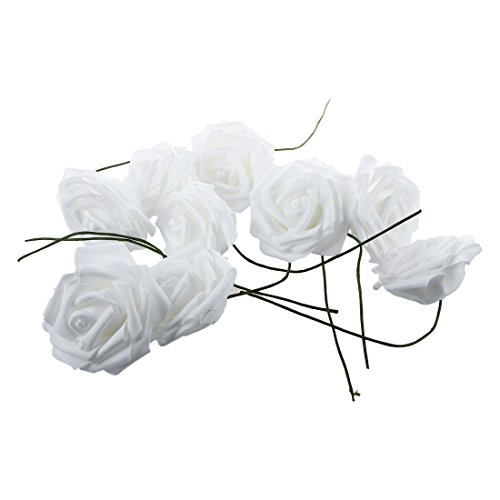 Rose Flower - Nhbr Beauty Bridal Rose Flower Party Wedding Bridesmaid Decoration White - Real J7 Party Bear Kit Anklet Beads Xr Brooch ()