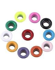 500 piezas de colores mezclados 3 mm de forma redonda ojales de metal Scrapbooking tarjeta de fabricación de ojetes de cuero artesanal para perforadora