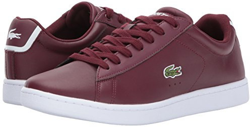 Lacoste Women's Carnaby Evo 317 7 Fashion Sneaker, Burgundy, 5 M US