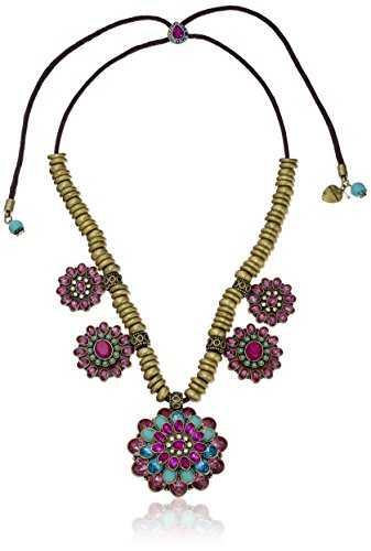 Boho-Chic Vacation & Fall Looks - Standard & Plus Size Styless - Betsey Johnson Boho Betsey Mixed Cluster Necklace