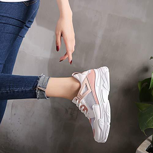 Fitness Shake Adulte Sport Pu Confortable Chaussures Travail Course Zezkt Running Compétition Épaisse Semelle En De Mixte Baskets Chaussure Femme Rose Mode qXxYfpw