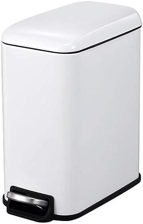NSHUN Cubo de Basura 5L | Papelera de Reciclaje Individual para Cocina, Dormitorio, baño, jardín | Cubo de Basura ecológico con Pedal y Tapa de cúpula | Acero Inoxidable: Amazon.es: Hogar