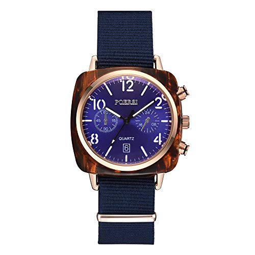 Dial Canvas - Watches Clearance,Luxury Temperament Square Dial Canvas Watchband Watch Analog Quartz Watch(Blue)
