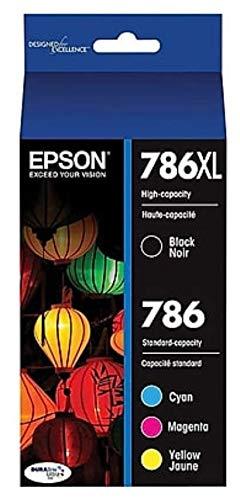 Epson Durabrite Ultra 786xl High Yield Black and 786 Standard Color C/m/y Ink Cartridges - T786xl-bcs