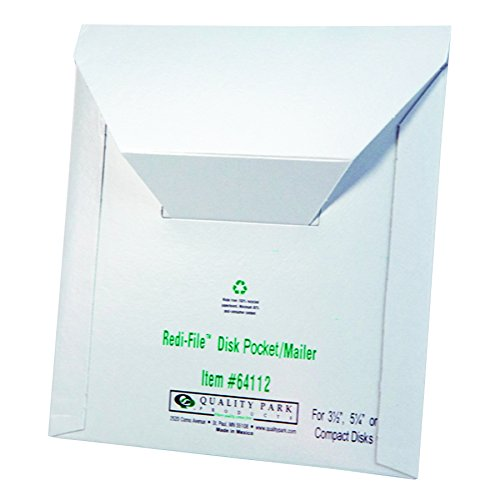 le Disk Mailers, 6 x 5.875 Inches, White, Box of 10 (64112) ()