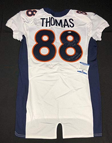 - Demaryius Thomas Signed Denver Broncos On Field Football 'Game Jersey' BAS 49463 - Beckett Authentication