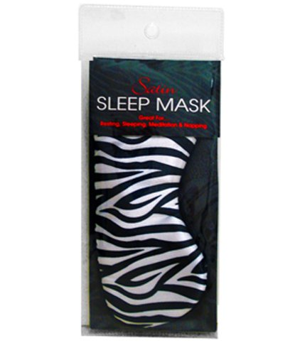 (Swissco Satin Sleep Mask Zebra Print)