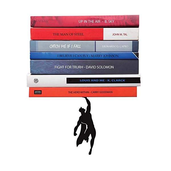 Artori-Design-Book-Shelf-Black-Metal-Superhero-Floating-Shelves-Invisible-Book-Stack-Hidden-Mount-Shelf-Unique-Wall-Shelf-Cute-Book-Stand-Living-Room-Wall-Decor-Wall-Mount-Shelf