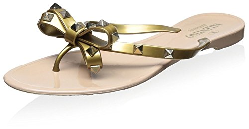 Valentino Women's Rockstud Thong Sandal, Gold, 39 M for sale  Delivered anywhere in USA