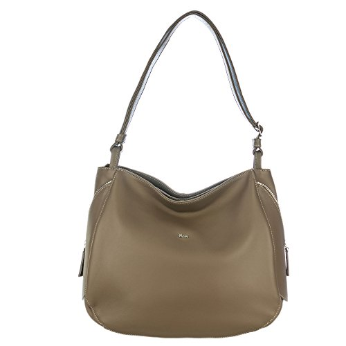 Zip Calf Leather Large Tote - 8