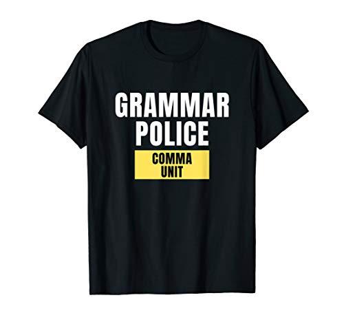 Lazy Halloween Costume Shirt Grammar Police T-Shirt