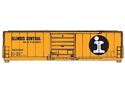 - 50' Evans Smooth-Side Boxcar - Ready to Run -- Illinois Central #523092 (orange, black, white)
