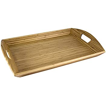 Totally Bamboo Butler's Serving Tray with Handles, 23