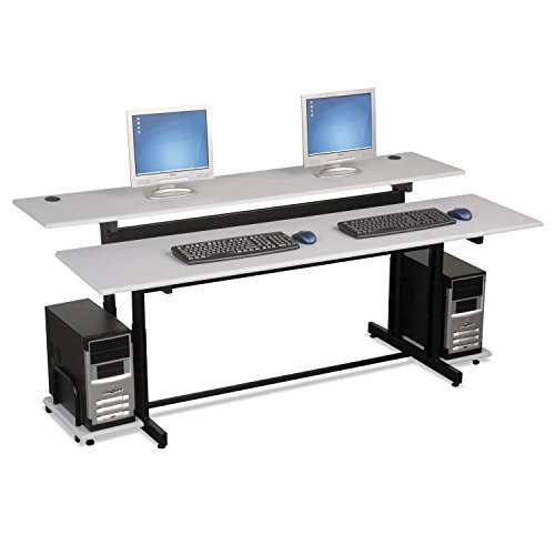 el Computer Training Table Top (Split Level Computer Training Table)